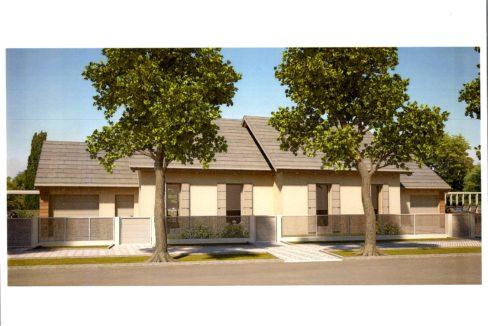 villa bifamiliare con giardino. nuova costruzione