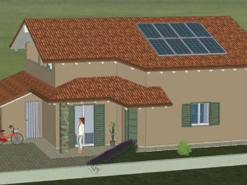 Villa con giardino nuova costruzione