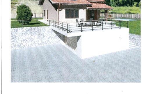 Arona villa in costruzione
